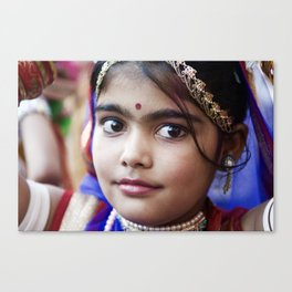 Young Girl, Udaipur, India Canvas Print