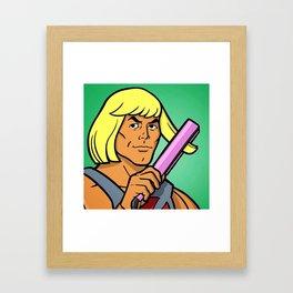 He-Man Hairdo Framed Art Print