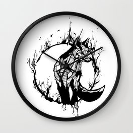 This Fox is Flame Wall Clock