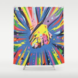 Band Together - Pride Shower Curtain