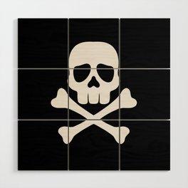 Skull and Cross Bones Wood Wall Art