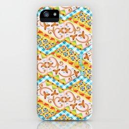 Gypsy Caravan Blue Gingham iPhone Case