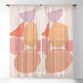 Abstraction_Geometric_Shape_ART_Minimalism_001 Sheer Curtain