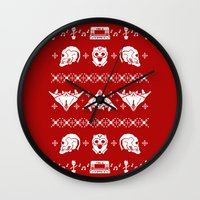 starlord Wall Clocks featuring Merry Christmas A-Holes by Perdita