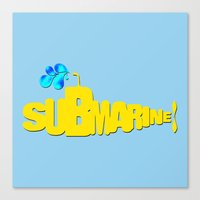 yellow submarine Canvas Prints featuring Yellow Submarine by Tali Rachelle