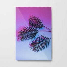 Seapunk Palm Leaves, Palm Leaf, Palm Tree Lover, 80s vibes Metal Print