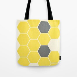 Yellow Honeycomb Tote Bag