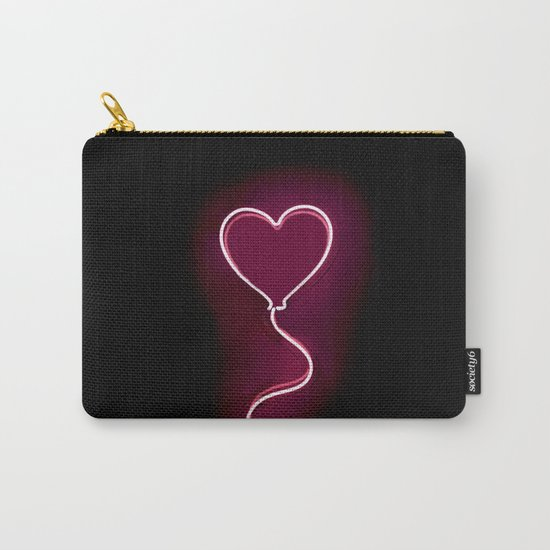 Balloon Heart (Neon) Carry-All Pouch