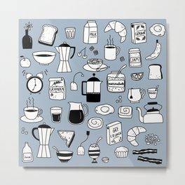 Breakfast Things Metal Print