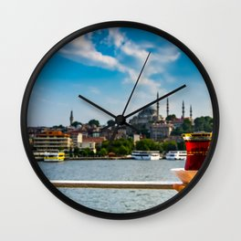 Tea time in istanbul Wall Clock