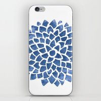 indigo iPhone & iPod Skins featuring Indigo by Color and Form