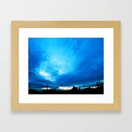 Blue Reflective Storms Framed Art Print