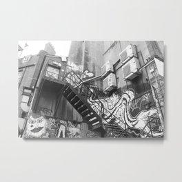 East London street art alleyway Metal Print