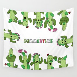 Cactus Family (colour version) Wall Tapestry
