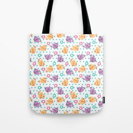 Freely Birds Flying - Fly Away Version 2 - Sky Blue Dots Color Tote Bag