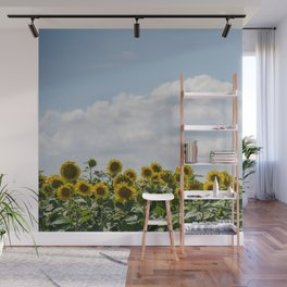 Field of Sunflowers Wall Mural