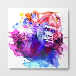 Gorillas are some of the most powerful and striking animals Metal Print