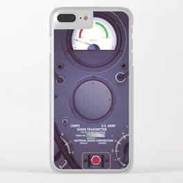 Vintage US Army Radio Transmitter Clear iPhone Case