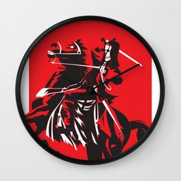Fear the Red Horse Wall Clock