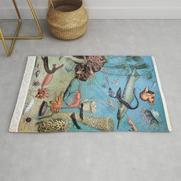 Adolphe Millot - Ocean A - french vintage poster Rug