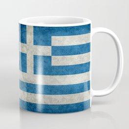 Greek flag in retro grunge Coffee Mug