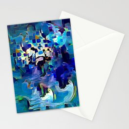 Ocean motion abstract Stationery Cards