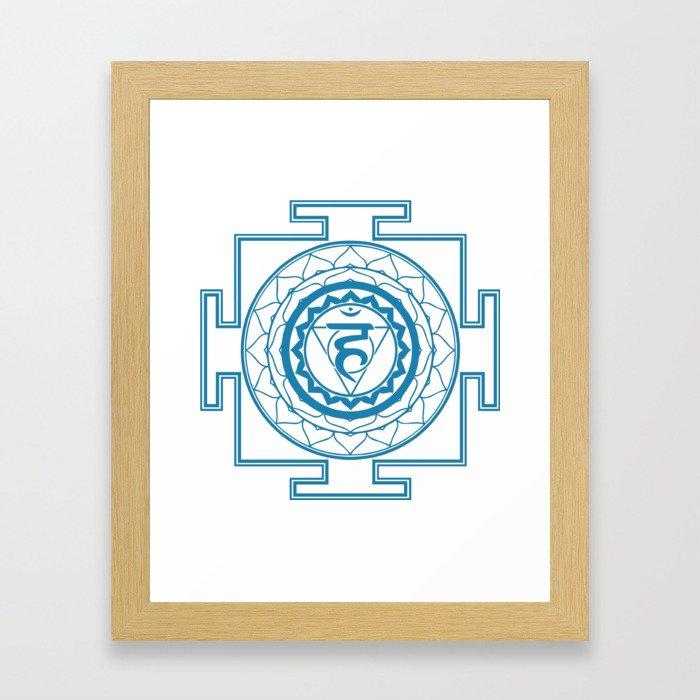 Sri Yantra Throat Chakra Framed Art Print