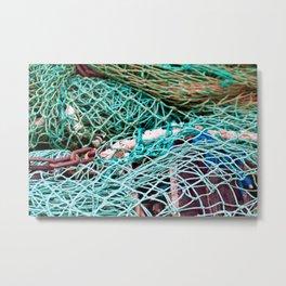 Baltic Fishing Net Sound Metal Print