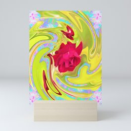 Cool Red Rose Abstract Art 096 Mini Art Print