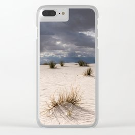 Yucca and Grasses in the White Sands of New Mexico Clear iPhone Case