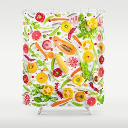 Fruits and vegetables pattern (31) Shower Curtain