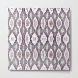 Organic Pattern brown blush Metal Print