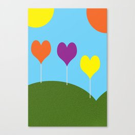 Happy Trees - Spring Canvas Print