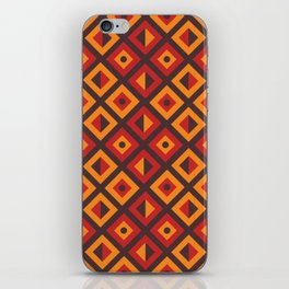 Orange Diamond Tribal Pattern iPhone Skin