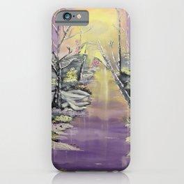 Warm winter beauty iPhone Case