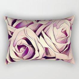 blush roses, lilac living, lilac floral, floral decor Rectangular Pillow