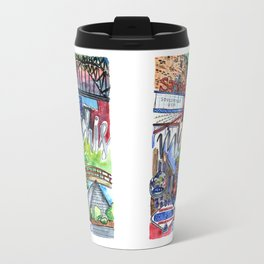Memphis Watercolor Travel Mug