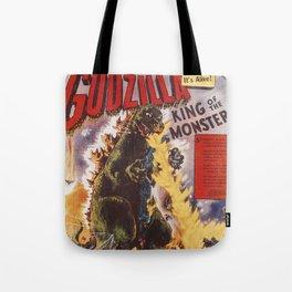 Godzilla rampage Tote Bag