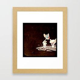 Pinky & The Brain Framed Art Print