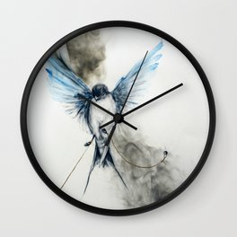"""""""Restraint and Freedom"""" Wall Clock"""