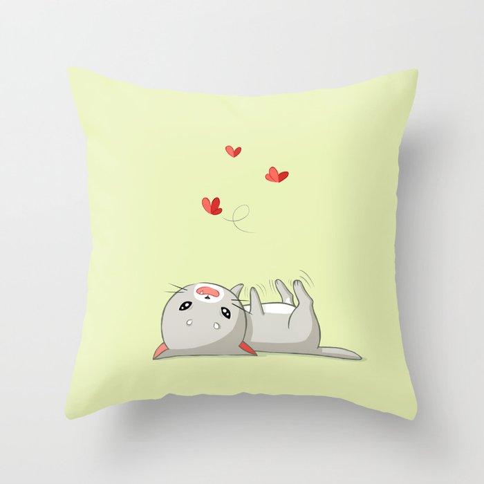 Playing Kitten Throw Pillow