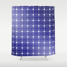 In charge / 3D render of solar panel texture Shower Curtain
