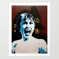 psycho Art Prints featuring Psycho! by thatash