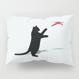 Cat and X-Wing Pillow Sham