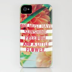 Sunshine//Freedom//Flower Slim Case iPhone (4, 4s)