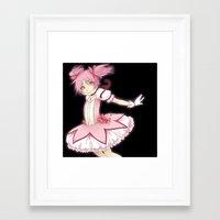 madoka Framed Art Prints featuring Madoka by Joana Tiago