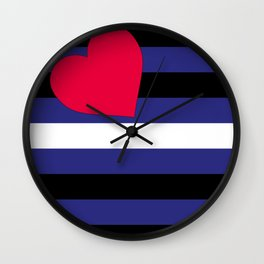Leather, Latex and BDSM Pride Flag Wall Clock