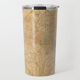 Civil War Washington D.C. Map Travel Mug