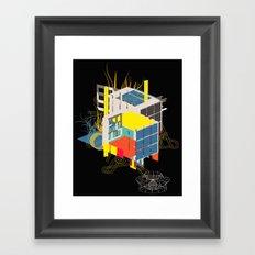 rubik's building - vienna 2044 - 4 colors version Framed Art Print