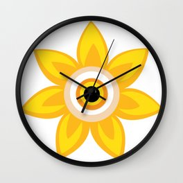 Flower Eye Design (Chlor Headshot) Wall Clock